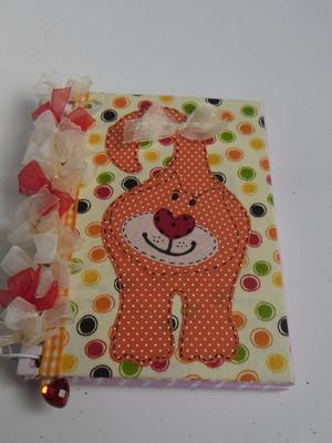 Caderneta decorada : Gatinho