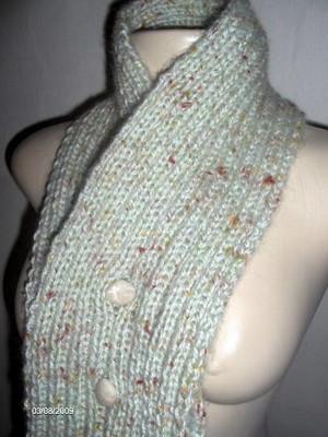Cachecol e scarf com osso