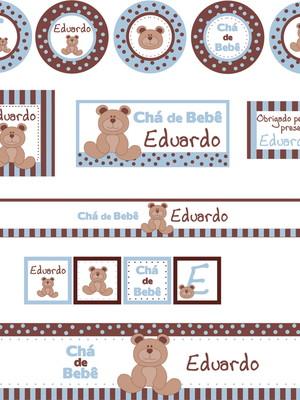 Kit Festa Ursinho Chá de Bebê - digital