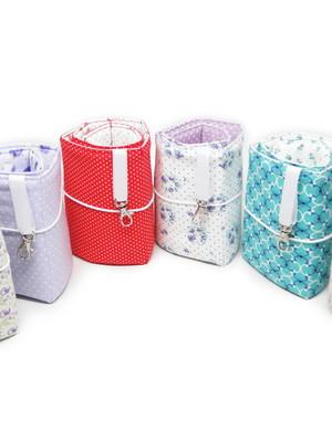 Organizador de bolsa de enrolar * escolher tecidos