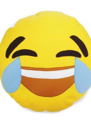 Almofada p/ pijama emoji chorando de rir