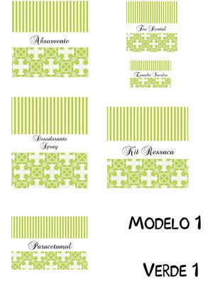 Rótulos Banheiro Impressos Verdes
