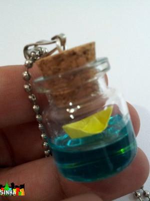 Colar Dia de Sol - mini vidro