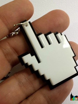 Colar ou chaveiro Cursor Pixel - Black Friday