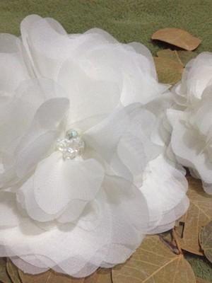 Grinalda duas flores em seda casamento