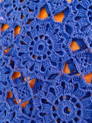 Cropped de flores Rendada em crochet