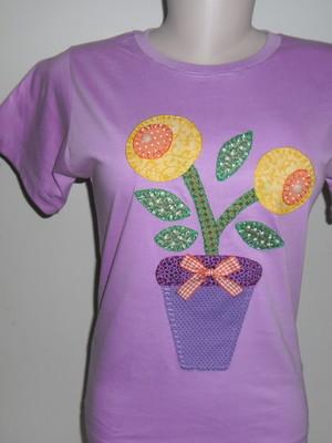 Camiseta Baby Look - Vaso de flores 3