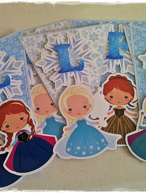 Bandeirola Frozen Baby