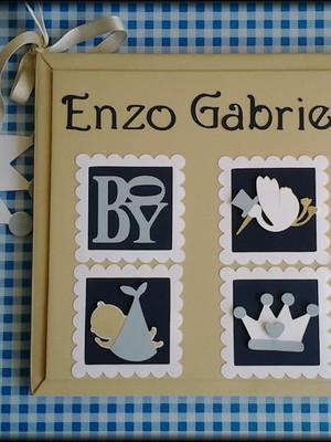 diário bebê príncipe personalizado para menino scrapbook