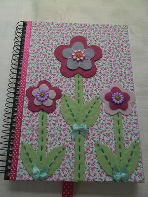 Caderno decorado -Floral 4