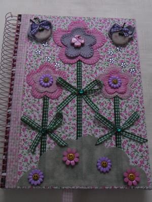 Caderno decorado -Floral 5