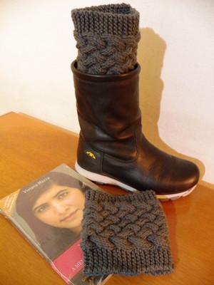 Boots cuffs entrelaçada em tricot