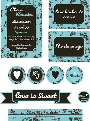 Kit digital Chá de Cozinha - Azul