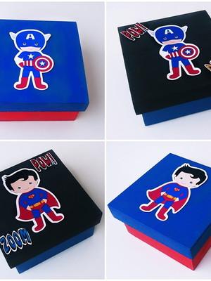 Caixa Mdf Personalizada Heróis