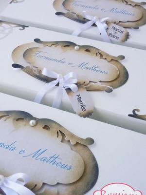 Caixa MDF Personalizada para casamento