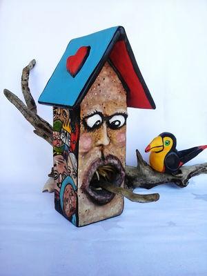 Casa de Pássaro *Surreal* Peça Única