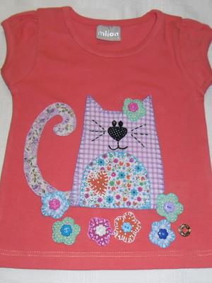 Camiseta Infantil - Gatinha no balanço