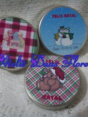 Latinha mint to be personalizada Natal