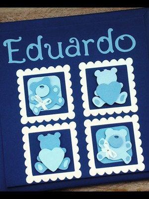 livro diario bebe enxoval ursinhos scrapbook anotacoes fotos