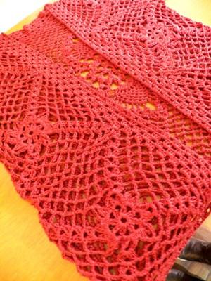Bolero Marsala em crochet
