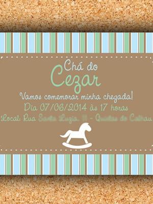 Convite Chá Cavalinho - digital