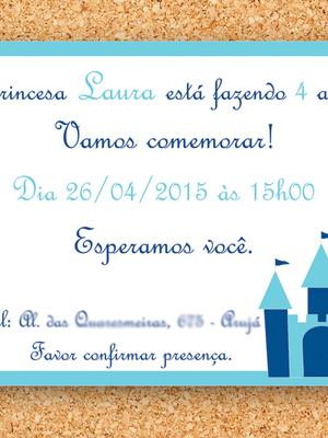 Convite Castelo Princesa digital
