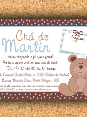 Arte Convite Chá Ursinho (digital)