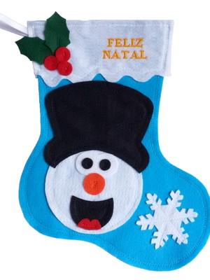 Bota / Meia Personalizada - Boneco de Neve.