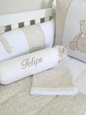 Kit de Berço Urso Romantic - 9pçs