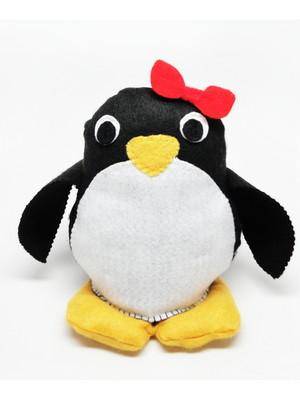 Pesinho de porta pinguim fêmea em feltro *
