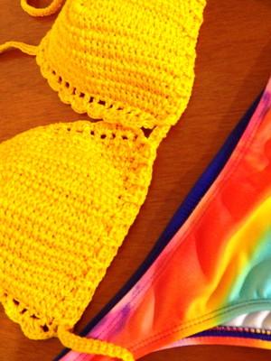 Conjunto de banho em crochet