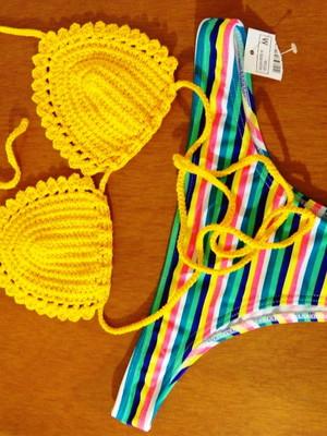 Biquini Quartzo em crochet