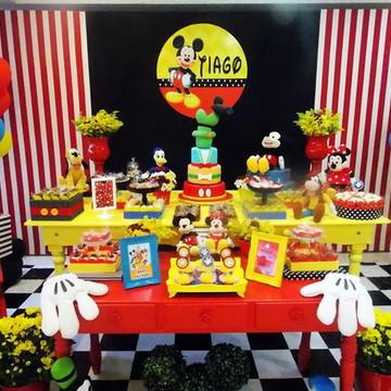 Painel de aniversário - Mickey
