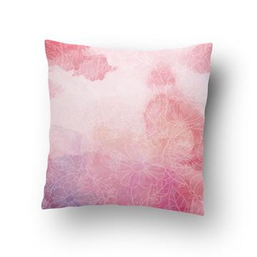 Capa de Almofada Flores Rosa