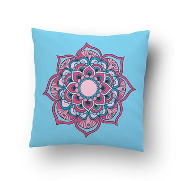 Capa de Almofada Flor Lotus Colorida