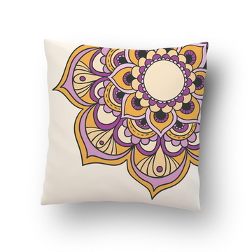 Capa de Almofada Flor Colorida Lotus