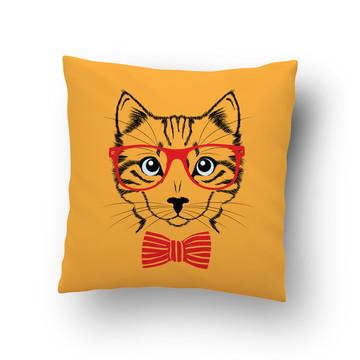 Capa de Almofada Estampada Animal Gato