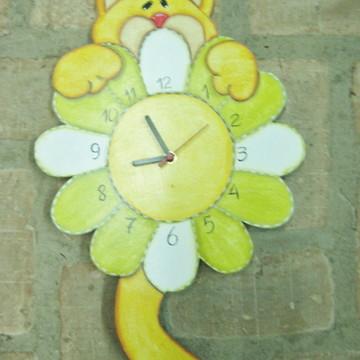 relógio de parede cat