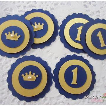 Tag Scrap Coroa Realeza e Tag Numero