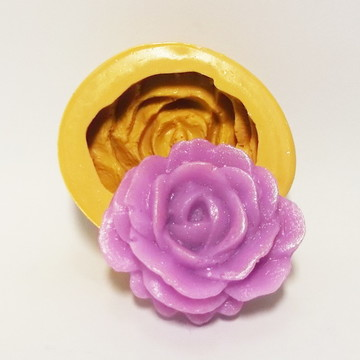 Rosa Redonda - molde de silicone