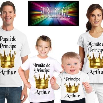 Kit 4 Camisetas Príncipe