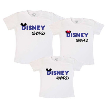 Camisetas Viagem Disney Word