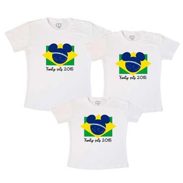 Camisetas Viagem Disney Bandeira