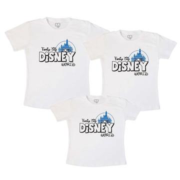 Camisetas Viagem Disney Castelo azul