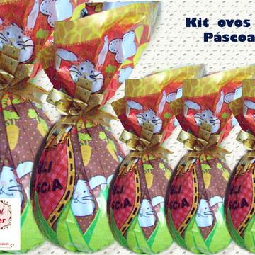 Ovos de Páscoa - Kit com 5 uni