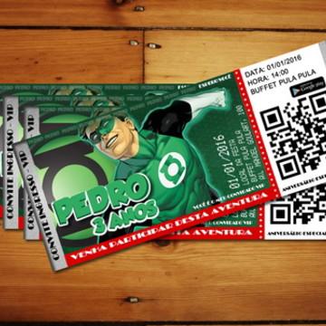 Convite Digital Lanterna Verde - VIP