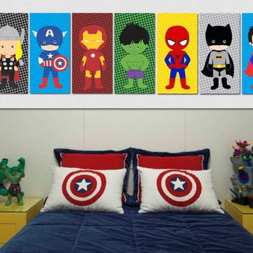 7 Quadros Super Heróis
