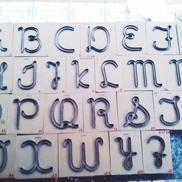 alfabeto letras cursiva
