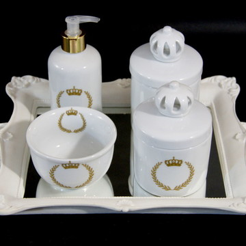 Kit Quarto Bebê , Porcelana Coroa