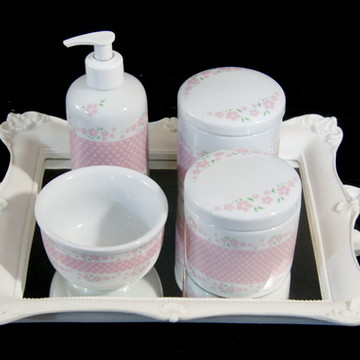 Kit Quarto Bebê , Porcelana Floral